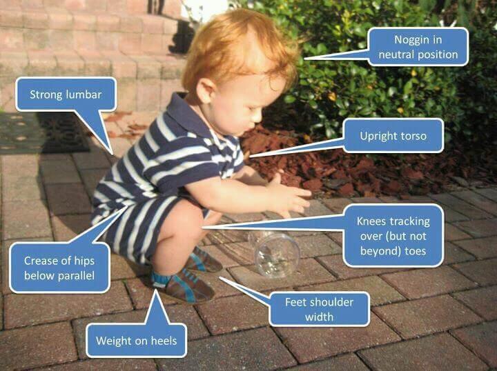 squat bébé