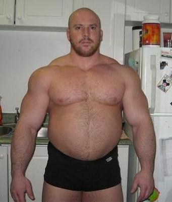 dikke bodybuilder