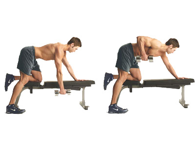 one arm dumbbell row oefening