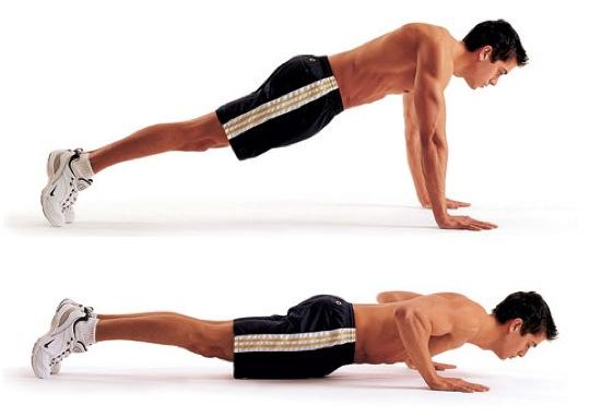 push ups oefening