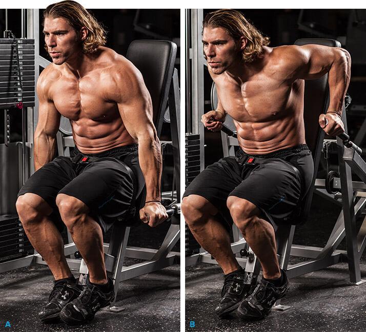 triceps dip machine voorbeeldoefening